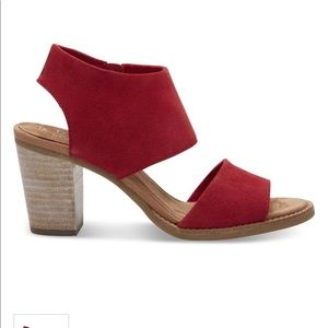 Red toms heeled